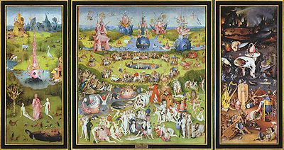 Hieronymus Bosch paints the Garden of Earthly Delights
