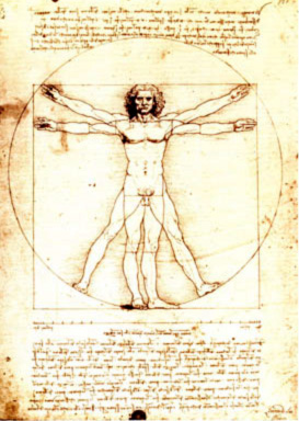 The Vitruvian Man is a world-renowned drawing created by Leonrdo da Vinci around the year 1487